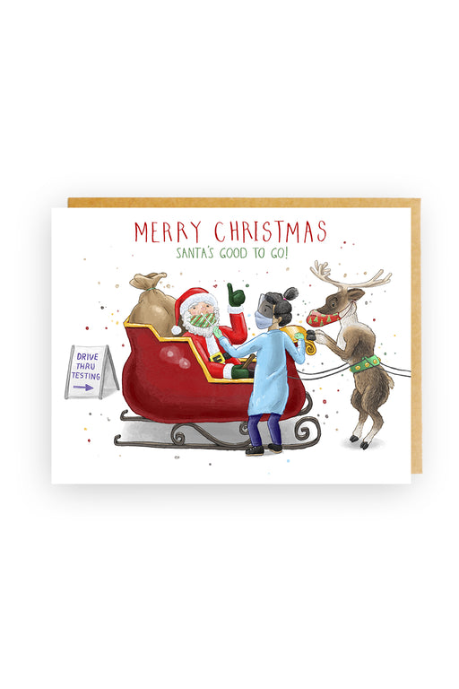 Squirrel Design Studio-Santa's Good To Go Christmas Card-Mott and Mulberry