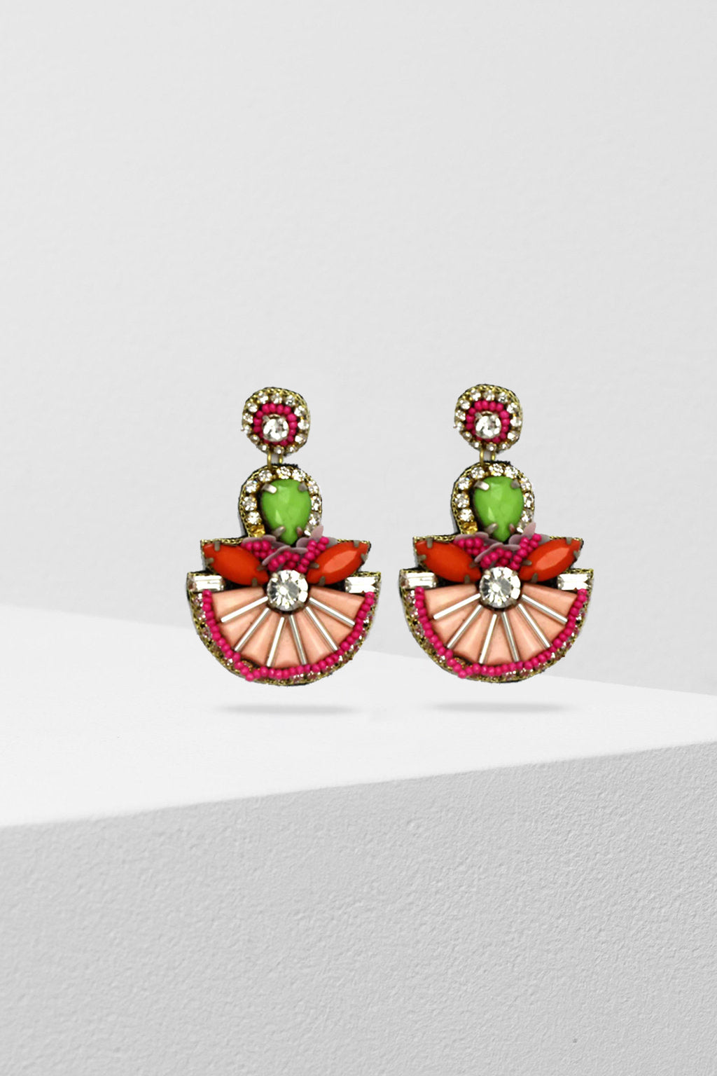 ZODA-Cantina Beaded Multi Earrings-Mott and Mulberry