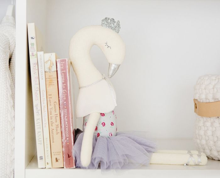 Alimrose-Swan Ballerina Toy 43cm-Mott and Mulberry