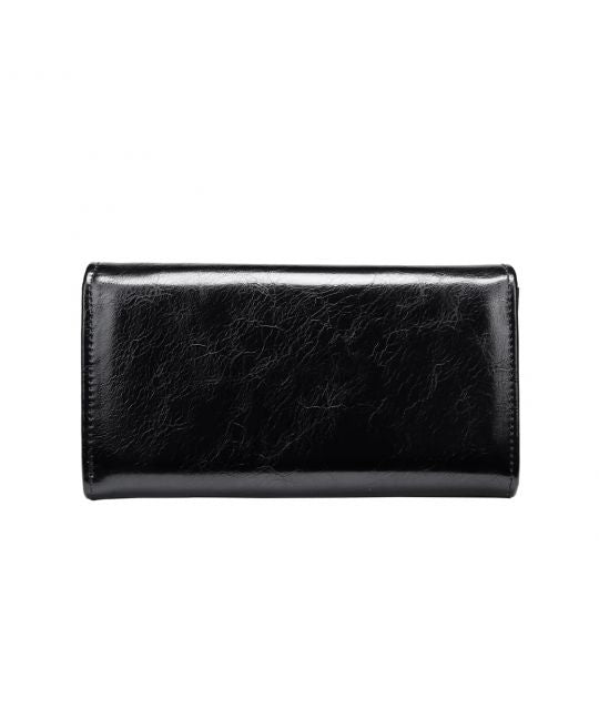 Vendula-White Poppy Flap Front Wallet-Mott and Mulberry