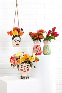 Jones & Co-Mamasita Frida Planter Vase-Mott and Mulberry