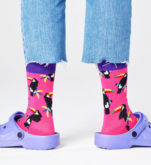 Happy Socks-Toucan Socks Pink-Mott and Mulberry