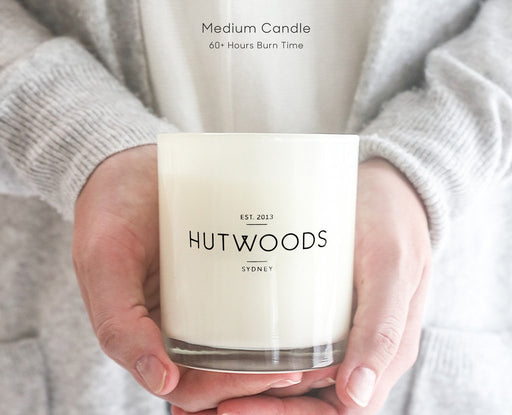 Hutwoods-Medium Candle - Champagne & Strawberries - 250g-Mott and Mulberry