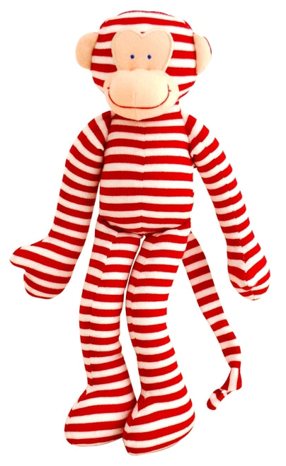 Alimrose-Monkey Rattle Red Stripe 30cm-mott-and-mulberry-shop-online-brisbane