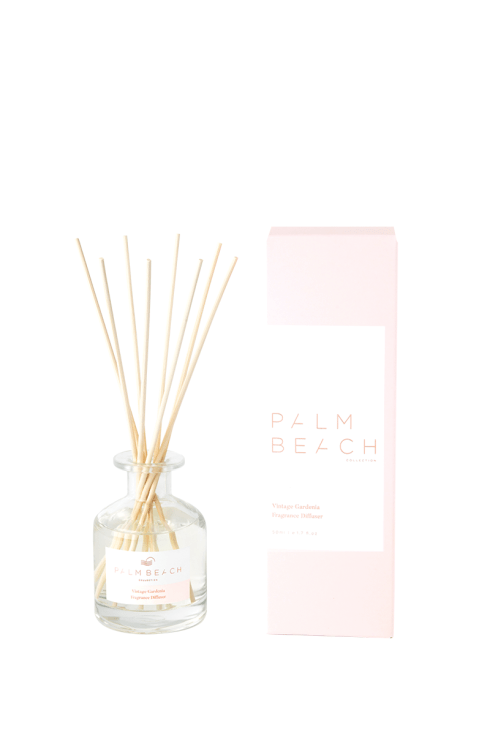 Palm Beach-Palm Beach Fragrance Vintage Gardenia Mini Diffuser 50ml-Mott and Mulberry