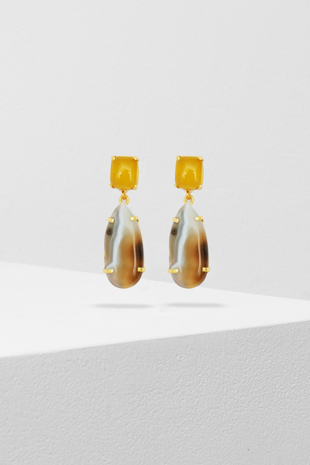ZODA-Citrus Teardrop Earrings-Mott and Mulberry