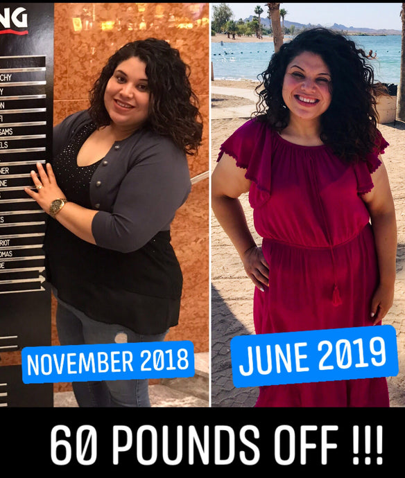 Reina down 60 Pounds since January 2019!