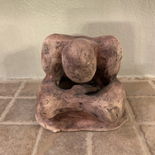 Load image into Gallery viewer, RAKU Clay Sculpture - reflecting person AGE