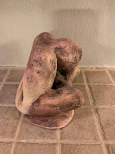 RAKU Clay Sculpture - reflecting person AGE