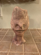 Load image into Gallery viewer, RAKU Clay Sculpture - eyeless face AGE