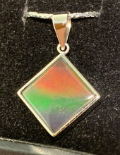 Load image into Gallery viewer, Ammolite square pendent for necklace