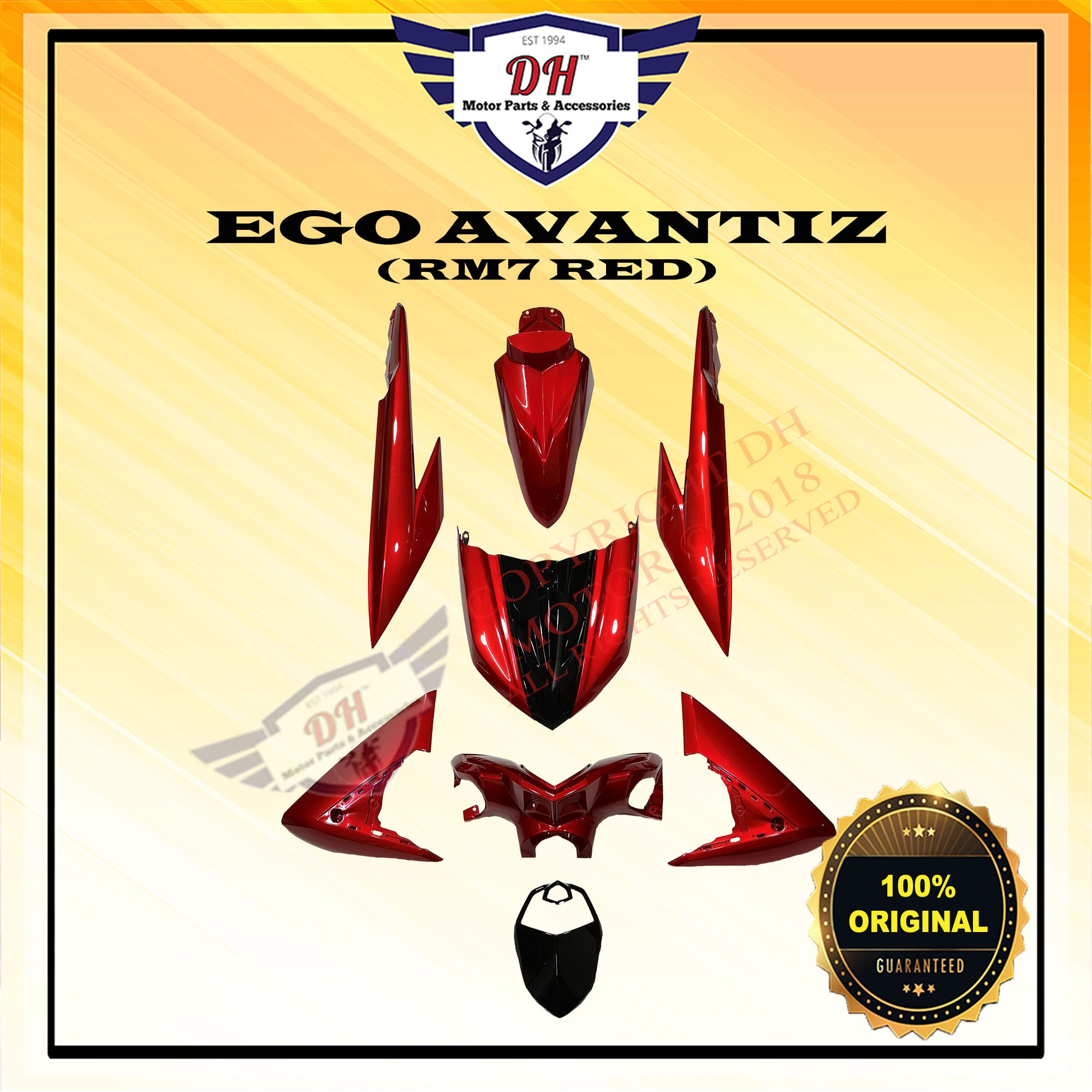 Ego Avantiz Original Cover Set Yamaha Rm7 Red Full Set With Body Dh Motor Parts Accessories