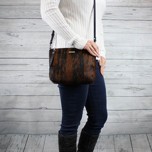Becca Crossbody/Clutch Large (Brindle Hair-on Hide)