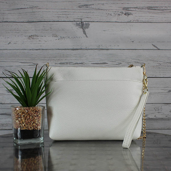 Becca Shoulder Bag/Clutch Large (Bone)