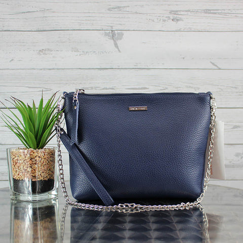 Becca Shoulder Bag/Clutch Large (Navy)