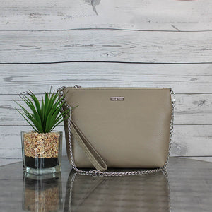 Becca Shoulder Bag/Clutch Large (Taupe)