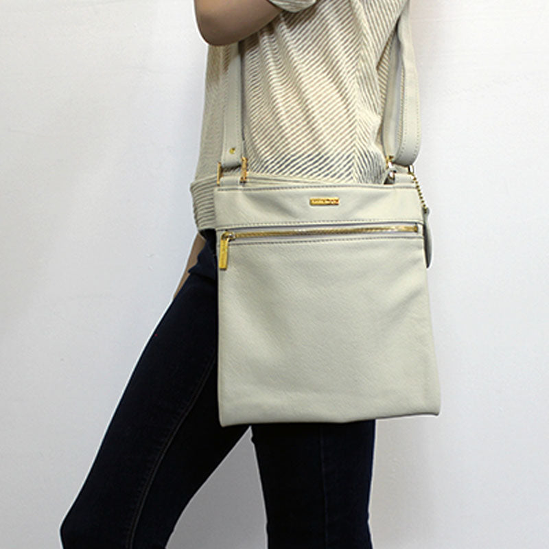 Messenger Crossbody (Bone)