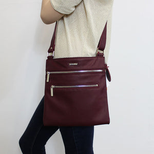 Messenger Crossbody in Oxblood