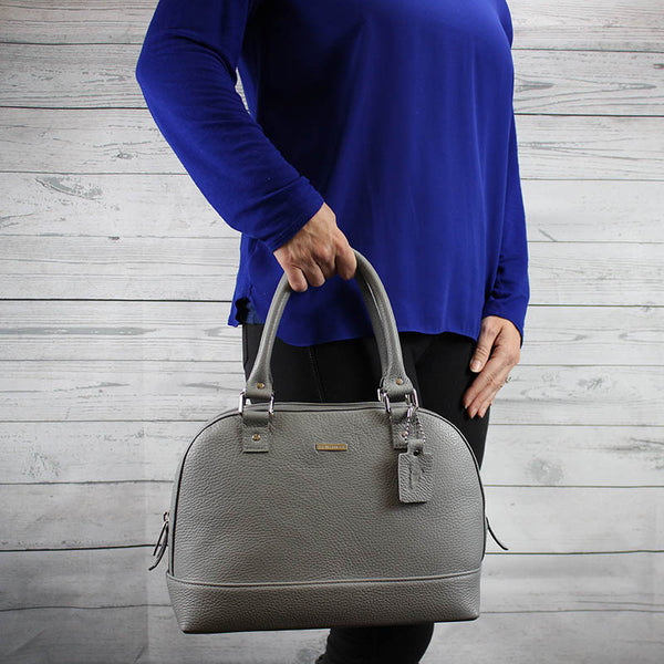 Dakota Satchel Small (Dove Grey)