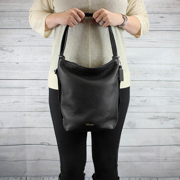 Convertible Hobo Backpack (Black)
