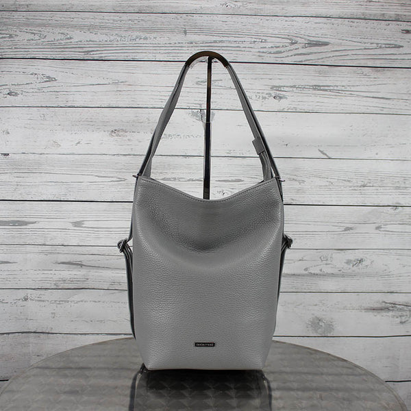 Convertible Hobo Backpack (Dove Grey)