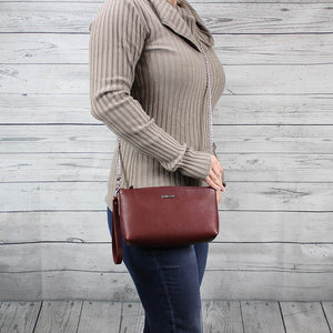 Becca Crossbody/Clutch Small (Oxblood Red)