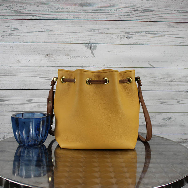 Casey Bucket Bag (Mustard)