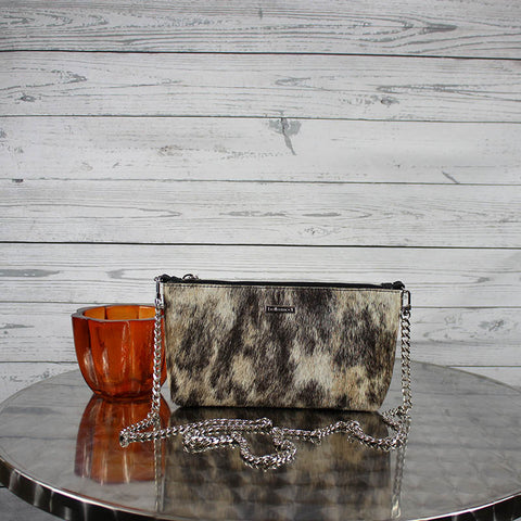 Becca Crossbody/Clutch Small (Salt & Pepper Hair-on Hide)