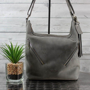 Kristina Feedbag (Grey Suede)