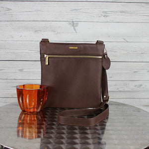 Lee Messenger Crossbody (Mahogany)
