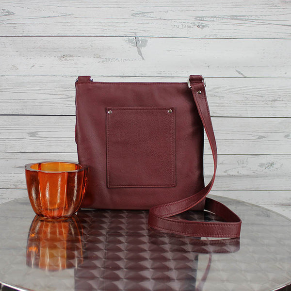 Lee Messenger Crossbody  (Oxblood)