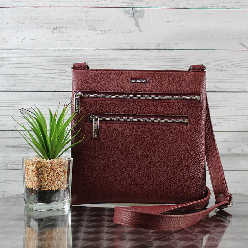 Lee Messenger Crossbody (Oxblood Red)