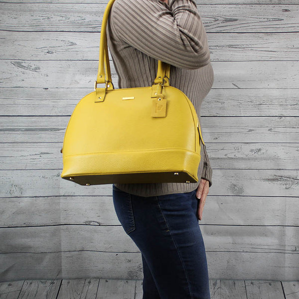 Dakota Satchel - Large (Mirabella Yellow)