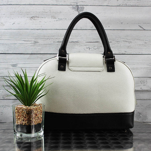 Dakota Satchel - Small (Bone & Black)