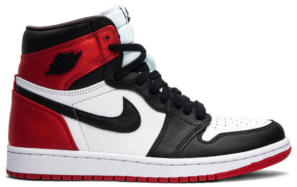 "Air Jordan 1 High ""Satin Black Toe"""