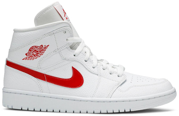 "Air Jordan 1 Mid ""White University Red"""