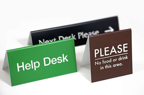 Double-sided Counter Signs in Various Sizes and Colors