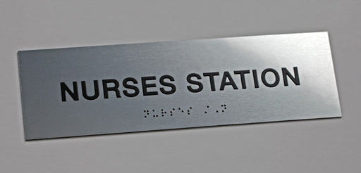 ADA Compliant Office Sign with Raised Text and Grade 2 Braille