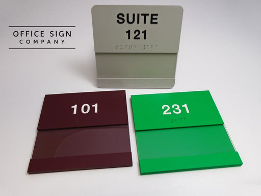Braille Signs with Insert Window