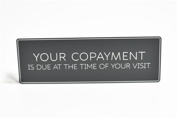 Co-payment Wall Sign