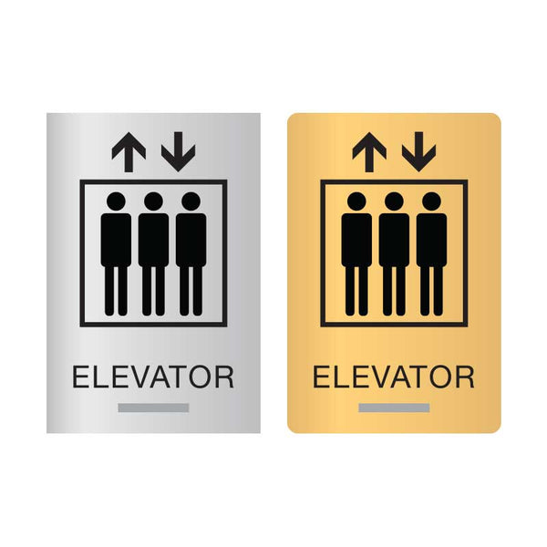 ADA Compliant Elevator Signs with Curved or Square Corners