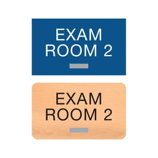 Americans with Disabilities Act (ADA) Braille Exam Room Number Signs