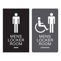 Americans with Disabilities Act (ADA) Braille Mens Locker Room Signs