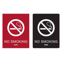 Americans with Disabilities Act (ADA) Braille No Smoking Signs