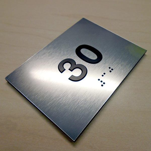 Braille Room Number Signs with Raised Text