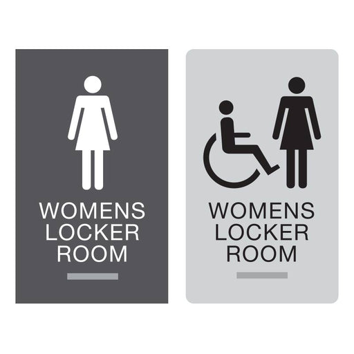 Americans with Disabilities Act (ADA) Braille Womens Locker Room Signs