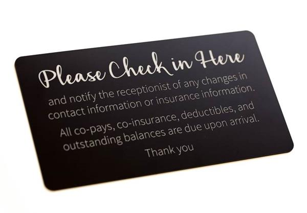 Reception Insurance Sign