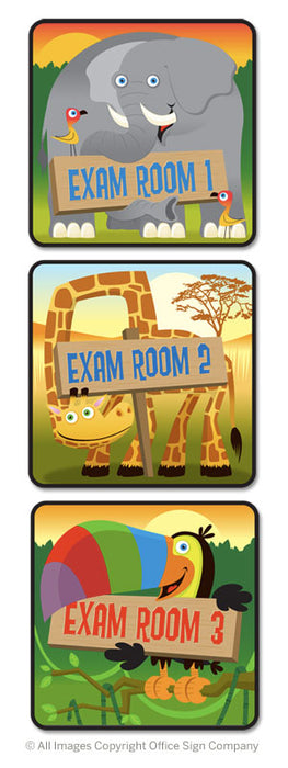 Exam Room Signs for Pediatric Hospital