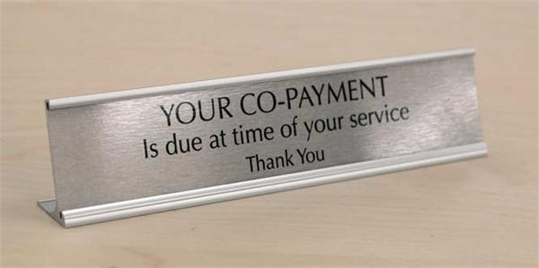 Medical CoPay Signs - Free Custom Messages or Text