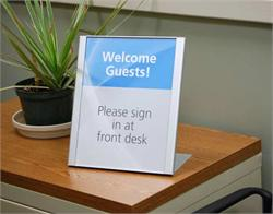 Metal Desk Sign with Interchangeable Insert Area